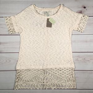 NWT ANTHROPOLOGIE MTWTFSS  Ivory White Lace Dress